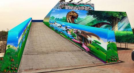 西安世博园两大涂鸦作品精彩亮相